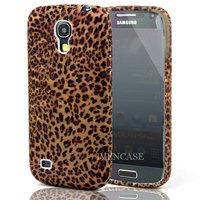 Leopard A90 Soft TPU Gel Case Cover Skin For Samsung Galaxy S4 SIV Mini i9190 i9192 + Screen Protector +Wholesale