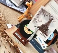 fancy gramophone memo clip 4.3*6cm