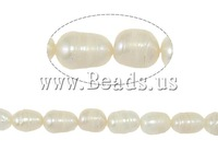 Free shipping!!!Baroque Cultured Freshwater Pearl Beads,Korea Jewelry, A, 7-8mm, Hole:Approx 0.8mm, Length:14.5 Inch