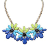 (Our min order is $10 you can mix order )HOT Wholesale Bohemia new Korean candy color sweet flower Necklace