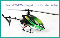 New V120D02s Compatible Futaba Radio 6 axis Flybarless Mini 3D BNF