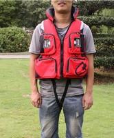 NEW Fly Fishing Vest Detachable Safe Life Jackets Waistcoat Boating