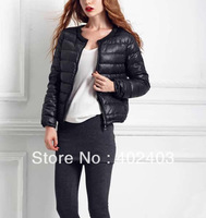 2013 women's goatswool 80 light pearl design o-neck short down coat outerwear Freeshipping