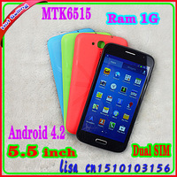 Free Shipping Cheap Dual SIM 5.5inch MTK6515 SK2 Android Phone 960x540 IPS 5MP 3G GPS WIFI Gift Provide