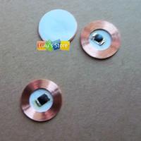 10pcs/lot 125Khz EM4100  RFID read only Coin tag 15mm diameter