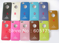 500PCS Air jacket shell bling Aluminum metal Metallic A5 shiny hard case For iphone 5 5S skin cases DHL Factory Price