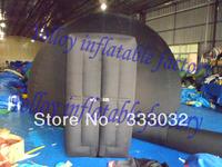 HIGH QUALITYportable inflatable planetarium tent  4m diameter balck planetarium dome tent with door