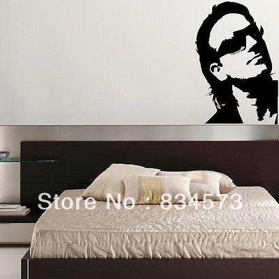 Koop hete bono u2 grafische slaapkamer decoratie muurstickers muurtattoo - Decoratie muur slaapkamer ...