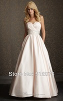 Kiss Family 2014 New Arrival Wedding Dresses Zipper Beaded Ball Gown Charming Sexy Wedding Gown Custom Made