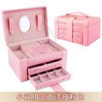 Jewelry box size of double wool fashion princess dressing quality lock jewelry box