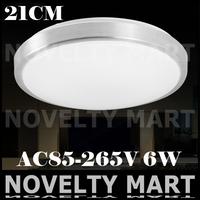 Popular favorable led ceiling lamp 85-265V 6W D210mm round aluminum ceiling light super bright balcony living room lighting