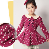 Children's clothing 2013 autumn and spring baby peter pan collar medium-large girls long-sleeve dress