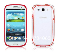 Hot in Korean Fashion Luxury Colorful Frame Silicone Skin Cove for Samsung Galaxy Note 2/ s3/ s4 Bumper  Shipping by DHL (O2O6)