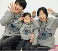 Free shipping 100% cotton family fashion autumn long-sleeve mother and child clothes for a family of