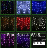 Led Icicle light 3m 110V 100LED Light  Christmas Decoration LED-Ice lights Power Plug+8Display Controller+Tail Plug  110V  US