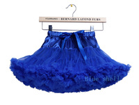 lovely rich fluffy chiffon pettiskirt baby girl royal blue petticoat dance wear free shipping