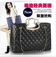 Free Shipping 2013 New fashion quilted flap bag Ladies fashion shoulder bag handbag Women designer chain bag totes bag PU