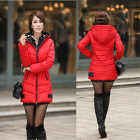 915 models . Korean women ladies down jacket women new winter coat thick and long sections Slim Down