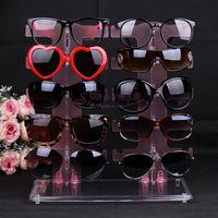 Free Shipping Double 10 eyeglasses frame sunglasses display rack storage rack glasses display rack