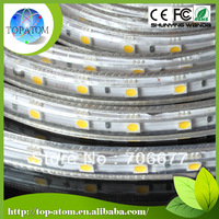 25m/roll high bright 110v 220v high voltage strip light SMD5050 60 leds/m 14.4W/M