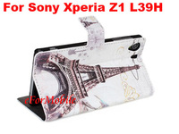 New Fashion Case Cover Stand Wallet Case Mobile Phone leather Case For Sony Xperia Z1 C6902/L39h C6903 C6906 C6943