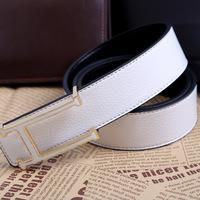 H buckle belt men fashion casual brand double-sided leather belt belt fashion leather belt