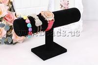 Free shipping!!!Velveteen Bracelet Display,Statement jewellery 2013, PVC plastic, with Velveteen, black, 230x140x50mm