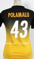 Free Shipping,Cheap,#43 Troy Polamalu Women's II Drift Elite American Football Jerseys Sale Embroidery Sewing Logos