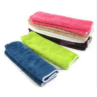 Wholesale 10pcs/lot Bamboo Fiber Dish Towels 29*26cm many colors Kitchen Towels Magic Dish Cloth free shipping