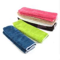 Wholesale 10pcs/lot Bamboo Fiber Dish Towels 29*26cm many colors Kitchen Towels Magic Dish Cloth free shipping