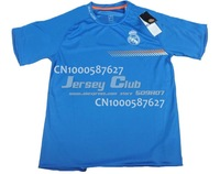 Top Thailand quality 2014 Real Madrid training jerseys blue Real Madrid training shirts