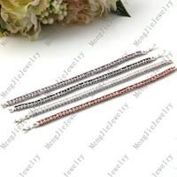 Luxury beautiful lady birthday  wedding gifts, plating 18 kt AAA zircon bracelets charm bracelets for women