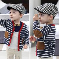 New 2014 autumn children outerwear boys coat child cardigan baby 100% cotton long sleeve tops wholesale 5pcs/lot