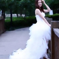 Weddings & Events New fashion a line sweetheart backless tulle wedding dress gown 2013 store online