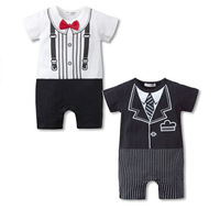 Wholesale New 2015 Summer Baby Jumpsuit Toddler Boy Clothes Short Sleeve Baby Overall Cotton Romper Baby Wear Baby Rompers