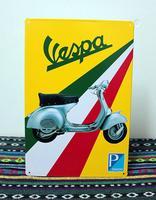 wholesale craft Vespa motorcycle tin signs vintage art wall decor House Restaurant Bar tin poster C-57