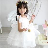 Female child princess dress flower girl formal dress flower one-piece dress wedding dress puff skirt