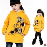 children's clothing Mickey hooded fleece jacket coat both sides to wear sweater jacket girls