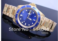 Wholesale - Luxury Mens  Gold & SS  Blue Index Dial SANT BLANC ,automatic mechanical WATCH for MEN