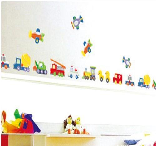 الشحن مجانا توماس القطار الكرتون ملصقات الحائط ديكور لغرفة الاطفال decorationroom الشارات ملصقا diy(China (Mainland))