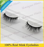 Free Shipping 3pcs/lot NO001 Celerbrity 100% real mink eyelash siberian mink fur eyelash thick false natural eyelash extensions