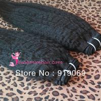 Indian hair kinky straight hair weave weft weaving