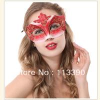 Christmas Venetian mask Christmas Halloween Masquerade mask painted half face mask princess