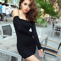 European fashion 2013 women autumn summer sexy club/party dress, brief charming slim tight long-sleeve elastic one-piece dress