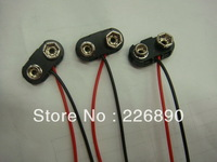 wholesale BT snap connector for 9V battery with plastic case ,100-150mm 24# wires ,3000pcs/lot