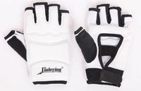 xinluying Taekwondo gloves sanda combat gloves boxing gloves white color free shipping