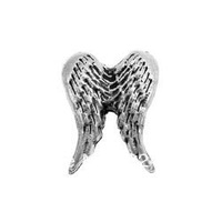 Angel Wings - Silver Floating Charm for Glass Memory Living Life Lockets owl
