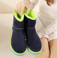 hot 2013 Super soft plush warm color matching short boots for women's shoes /snow boots /warm cotton boots/Female boots