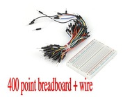 Free shipping, New 400 Tie points Phototype Breadboard + 65pcs jumper wire cable