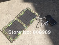 High Efficiency 7W Outdoor Solar Panel Charger For Mobile Phone+Mono Solar Panel+USB Solar Battery Charger Drop Free Shipping